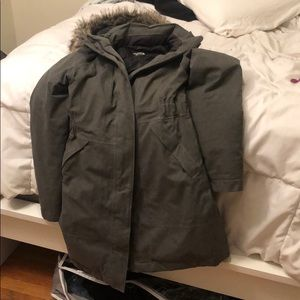 The north face down parka